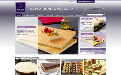 Screenshot of Home Page boncolac.fr captured Oct. 1, 2014