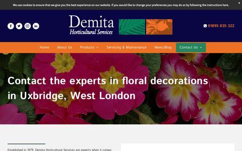 Screenshot of Contact Page demita.co.uk - Contact Us | Demita Horticultural Services - captured Nov. 13, 2018