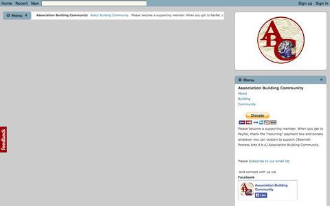 Screenshot of Menu Page abcglobal.net - Menu - Association Building Community - captured Oct. 5, 2014