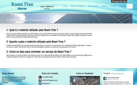 Screenshot of FAQ Page roamfree.com.br - Roam Free Idiomas | FAQ - captured Dec. 2, 2016