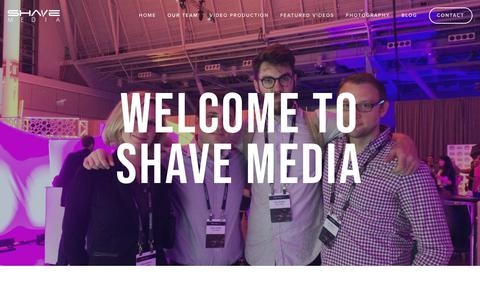 Screenshot of Team Page shavemedia.com - Our Team — Shave Media Video Production and Commercial Photography - Boston Filmmakers and Digital Storytellers - captured Feb. 17, 2019