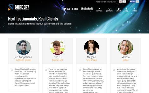 Real Testimonials, Real Clients | Border7 Studios