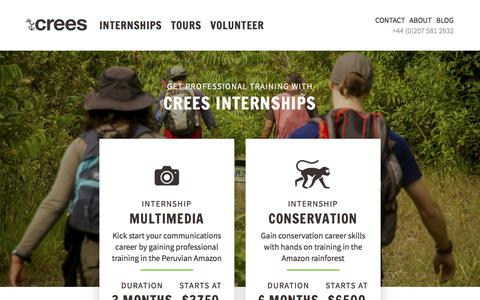 Screenshot of Press Page crees-manu.org - Internships - captured July 5, 2017