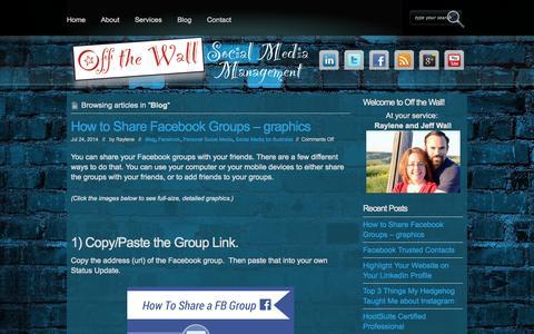 Screenshot of Blog offthewallsocial.com - Blog Archives - Off the Wall Social Media Management Off the Wall Social Media Management - captured Oct. 27, 2014