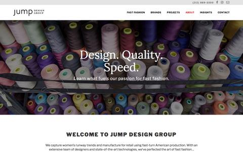 Screenshot of About Page jumpdesigngroup.com - About | Jump Design Group - captured Sept. 20, 2018