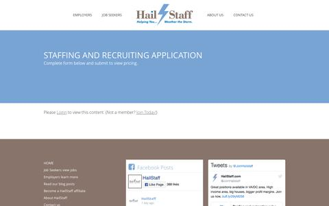Screenshot of Pricing Page hailstaff.com - Staffing and recruiting application | HailStaff - captured July 10, 2016