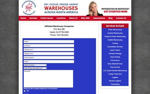 Screenshot of Contact Page awco.com - Contact Us - captured Oct. 4, 2014