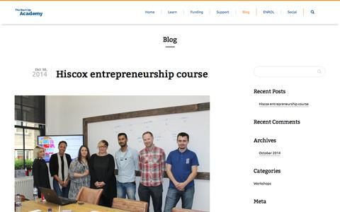 Screenshot of Blog startupacademy.org.uk - The Start Up Academy | Blog - captured Nov. 5, 2014
