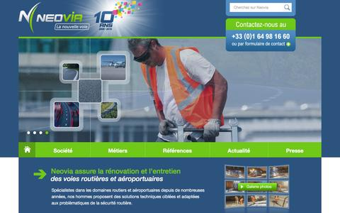 Screenshot of Home Page neovia-tp.fr - Accueil - Neovia - captured Feb. 14, 2016