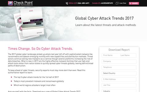 Screenshot of Landing Page checkpoint.com - Global Cyber Attack Trends 2017 | Check Point Software - captured Sept. 23, 2017