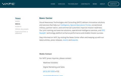 Screenshot of Press Page vatcinc.com - News | VATC - captured May 17, 2019