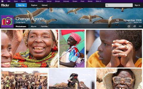 Screenshot of Flickr Page flickr.com - Flickr: Change Agents' Photostream - captured Oct. 22, 2014