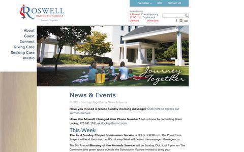 Screenshot of Press Page rumc.com - News & Events » RUMC - Journey Together RUMC – Journey Together - captured Oct. 6, 2014