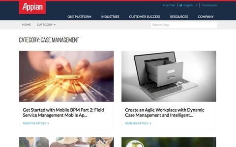Screenshot of Case Studies Page appian.com - Case Management Archives - Page 5 of 9 - Appian Blog - captured June 25, 2018
