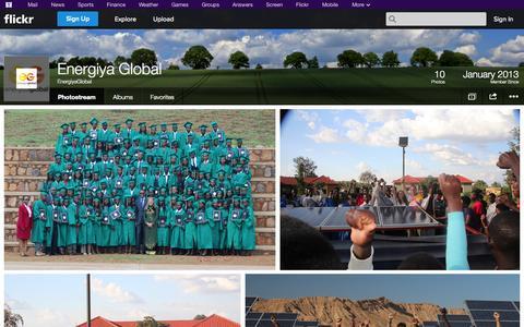 Screenshot of Flickr Page flickr.com - Flickr: EnergiyaGlobal's Photostream - captured Oct. 23, 2014