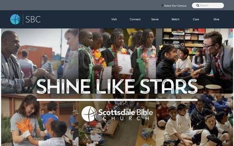 Screenshot of About Page scottsdalebible.com - About Scottsdale Bible - ScottsdaleBible.com - | ScottsdaleBible.com - captured Sept. 24, 2018