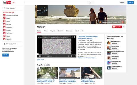Screenshot of YouTube Page youtube.com - Meltour  - YouTube - captured Oct. 31, 2014