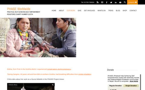 Screenshot of Case Studies Page phaseworldwide.org - Videos & Stories from Nepal - PHASE Worldwide - captured Dec. 6, 2015