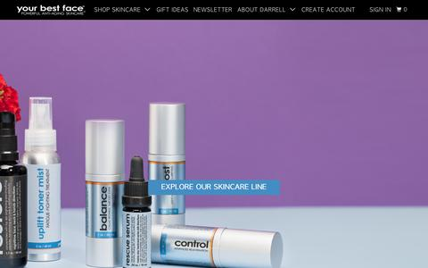 Screenshot of Home Page ybf-skincare.com - Shop Skincare Products & Collections | Your Best Face Skincare - captured Oct. 18, 2018