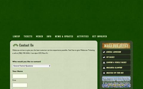 Screenshot of Contact Page wakarusa.com - Contact Us - Wakarusa Music Festival - captured Dec. 4, 2015