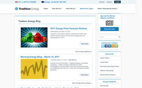 Screenshot of Blog traditionenergy.com - Blog - Tradition Energy - captured March 14, 2017