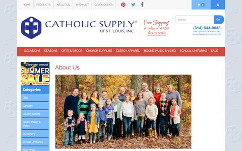 Screenshot of About Page catholicsupply.com - About Us - captured June 28, 2017