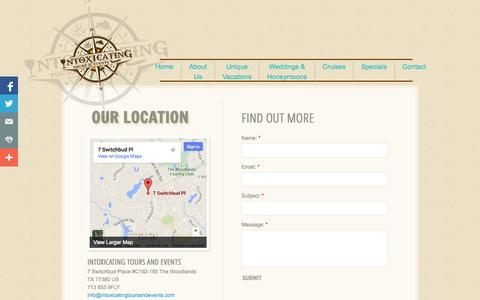 Screenshot of Privacy Page Contact Page intoxicatingtoursandevents.com - Contact - captured Oct. 23, 2014