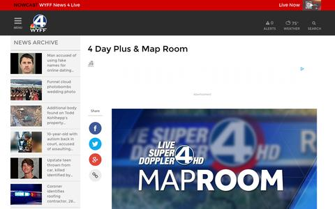Screenshot of Maps & Directions Page wyff4.com - 4 Day Plus & Map Room - captured June 26, 2017
