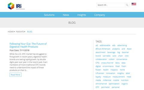 Screenshot of Blog iriworldwide.com - Blog - IRI - captured Jan. 6, 2020