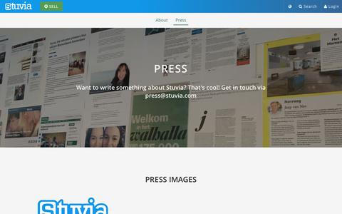 Screenshot of Press Page stuvia.com - Stuvia - Press - captured Dec. 18, 2016