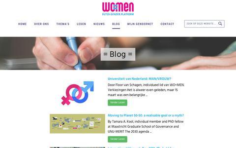 Screenshot of Blog wo-men.nl - Blog - WO=MEN - captured June 18, 2017