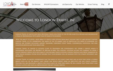 Screenshot of About Page londontravelin.com - London Travel in Limited | About us, Coach Hire, Executive Coaches - captured Sept. 25, 2018