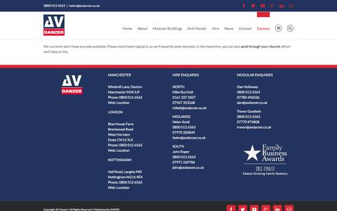 Screenshot of Jobs Page avdanzer.co.uk - -   Jobs Listing - captured Dec. 23, 2015