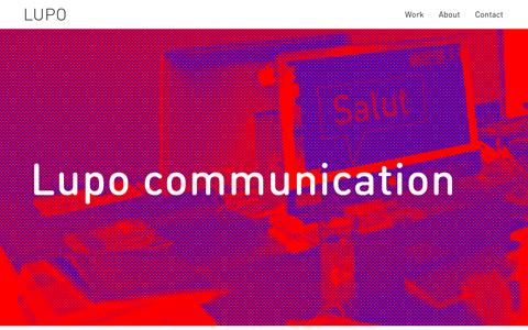 Screenshot of About Page lupodesign.se - About us - Lupo - captured Dec. 14, 2015