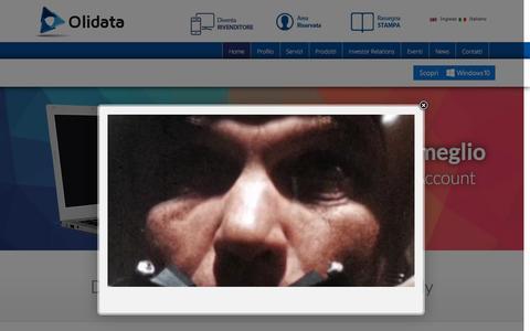 Screenshot of Home Page olidata.com - Olidata - captured Feb. 27, 2016