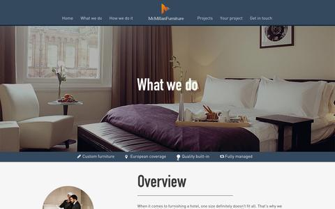 Screenshot of Services Page mcmillanfurniture.com - What We Do - Hotel and Resort Furniture from McMillan - captured Oct. 27, 2014