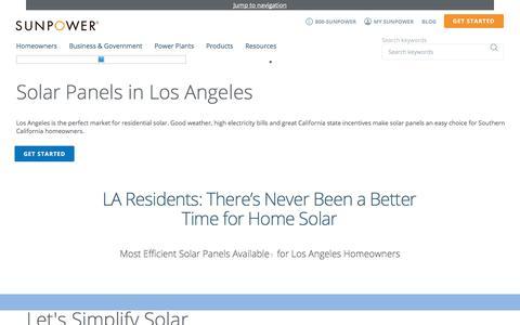 Los Angeles Solar Company Near Me - Home Panels | SunPower