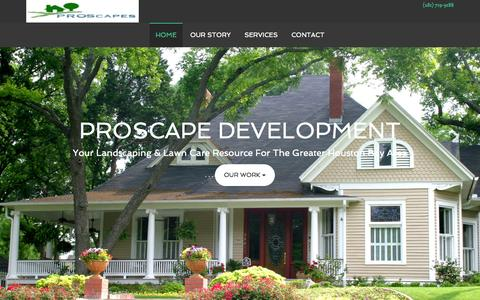 Screenshot of Home Page proscapesclearlake.com - Landscaping Lawn Care League City Kemah Clear Lake TX - Proscapes Landscaping Clear Lake Texas - captured Sept. 22, 2015