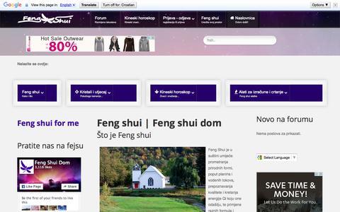 Screenshot of Home Page feng-shui-dom.com - Feng shui   Feng shui dom - captured Oct. 14, 2015