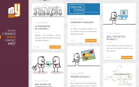 Screenshot of Blog agence-mycom.fr - Le blog - Agence MyCOM Agence MyCOM - captured May 29, 2017