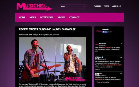 Screenshot of Press Page musichel.com - News   Musichel - captured Sept. 30, 2014