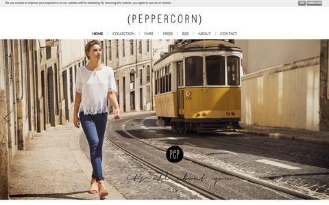 Screenshot of Home Page peppercorn.dk - home - Peppercorn - captured Jan. 26, 2015
