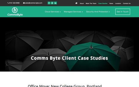 Screenshot of Case Studies Page comms-byte.com - Comms Byte Case Studies Archive - Comms Byte It Specialists - captured Jan. 30, 2016