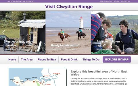Screenshot of Home Page visitclwydianrange.co.uk - Visit Clwydian Range - captured April 8, 2017