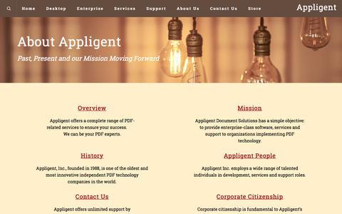 Screenshot of About Page appligent.com - About Us – Appligent - captured July 30, 2018
