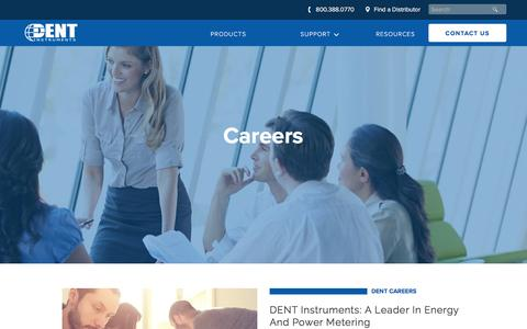 Screenshot of Jobs Page dentinstruments.com - Career Opportunities | DENT Instruments - captured Jan. 8, 2017