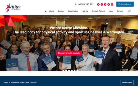 Screenshot of Home Page activecheshire.org - Home Page - Active Cheshire - captured Oct. 21, 2018