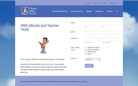 Screenshot of Signup Page flyingstartbooks.com - VIP Sign Up - Flying Start Books - captured Nov. 3, 2014