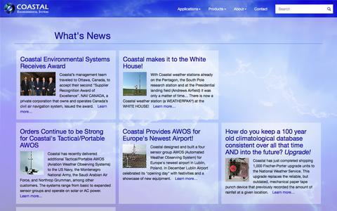 Screenshot of Press Page coastalenvironmental.com - What's New at Coastal - captured Aug. 9, 2017