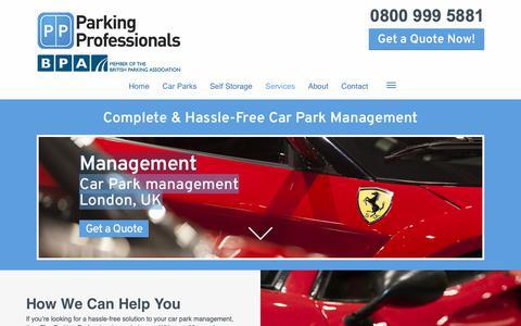Screenshot of Team Page parking-pros.co.uk - UK & London car park management solutions   Parking Professionals - captured Sept. 26, 2018